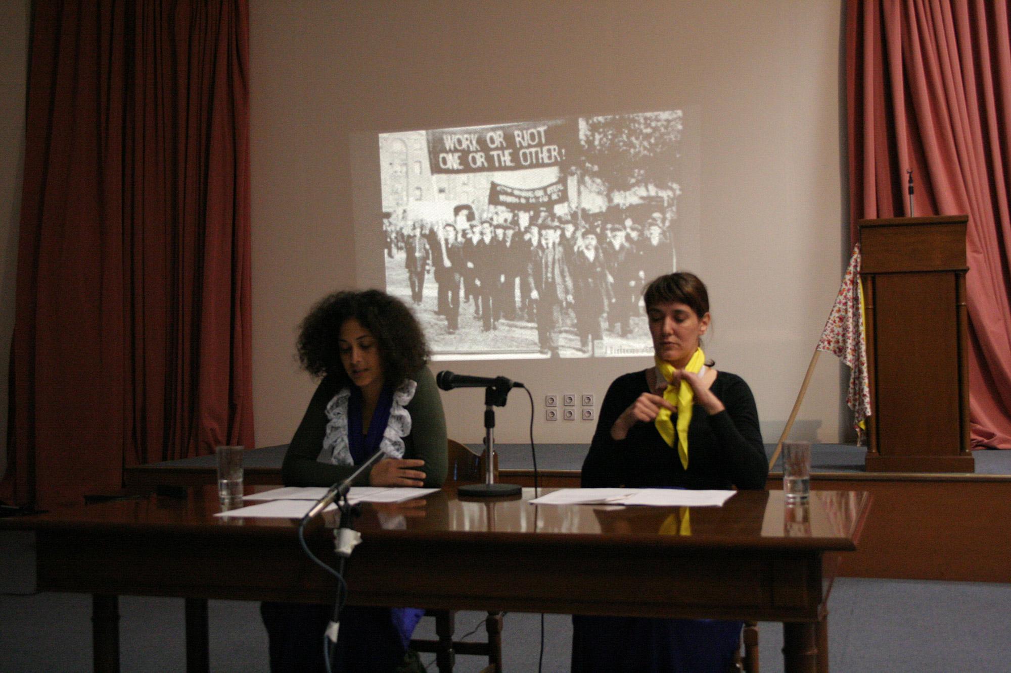 Yota Ioannidou and Teresa Maria Diaz Nerio, Aula Intergalactica, 2011